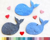 10+ Plantable Seed Paper Whale Baby Shower Favors - Flower Seed Paper Whales - Under the Sea Baby Shower Favors - Wedding Favors