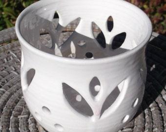 Christmas gift for Mom - White Candle Luminary or Tea Bag Holder