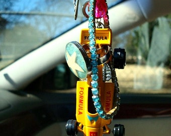 Super Speed Fun Filled Kitschy Talisman   Boho gypsy good luck