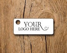 """160 Custom Jewerly Price Tags - 1.25"""" Rectangles  - Your Logo and Text - Customized Small Price Tags Jewelry Hang Tags Labels"""