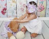 Purple Majesty - Lilac and White Headband, Baby Headband, Toddler Headband, Girls Headband, Flower Headband, Handmade Flower