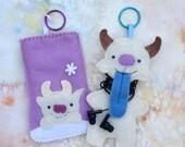 Yeti Earbud Buddy and I-Phone/I-Pod case, digital download PDF sewing pattern
