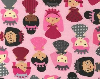Girl Friends Princess by Ann Kelle Fabric by Robert Kaufman in Sweet, yard