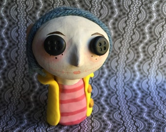 Clay Coraline Art Doll