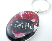 Mustard Seed Keychain, Faith Accessory Car Keys, Christian Gift for Teen Driver, Red Key Ring