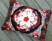 Boho Flower Pillow with Down and Feather Insert
