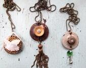 SALE - Ecofriendly Necklace - Repurposed Vintage