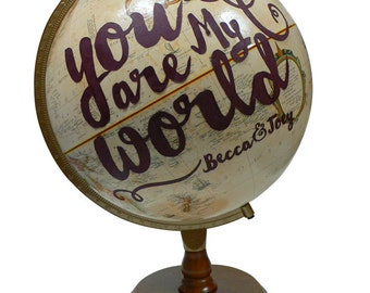 Push Pin Globe, Personalized Love Pushpin World Travel Globe, Customized Push Pin Globe Art