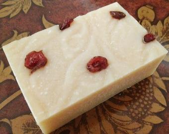 Cranberry Pomegranate essential oil goat milk soap