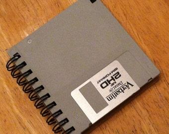 "Gray 3.5"" Floppy Disk Notebook"
