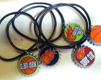 Basketball Team Boys Girls Kids Sleepover Teens Swap Party Favor Rubber Bracelet 12pk