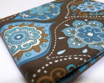 Fat Quarter Mod C 3792 Timeless Treasures Medallions Brown and Turquoise