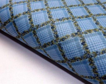 Bolt End Vintage Iris 2174 43 Northcott Floral Plaid Blue Ro Gregg Quilting Sewing Fabric