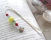Apple for the Teacher swarovski crystal bookmark