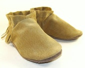Leather Baby Shoes Moccasins Soft Sole 6 to 12 Month