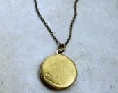Long Locket Necklace, Layering Necklace, Long Locket Pendant, Boho Necklace, Extra Long Chain, Vintage Locket