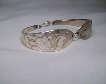 Vintage Mickey Mouse Spoon Bracelet - 1930's