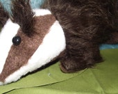 Badger Stuffed Animal Pattern To SEW!