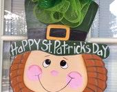 Front door decor, st patty decoration, Spring door hanger, St. Patrick door hanger, door hanger, IN STOCK
