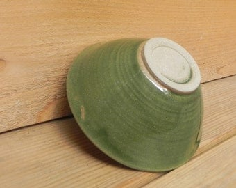 Green Stoneware Rice Bowl Ceramic Bowl Pottery