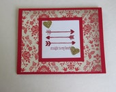Happy Together Straight to my Heart I Love You AnniversaryValentine Card Handmade Greeting Card Just Because