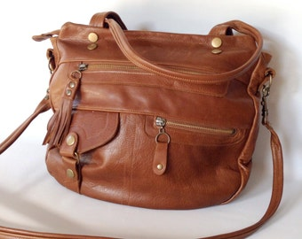 6 pocket Classic Okinawa bag in whiskey