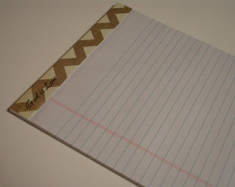 Altered LARGE NOTEPAD God Is Love
