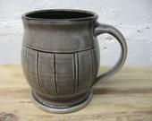 Large Grey Ceramic Coffee Mug