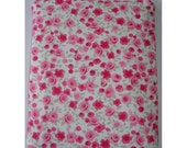 Case For an iPad Air 2 with Logitech Ultrathin Keyboard Case Cover Pouch Sleeve Ditsy Pink Roses Fabric Rose White Pinks