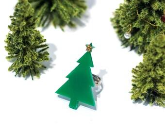 Christmas Tree Ring,Christmas Jewelry