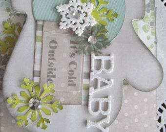 Winter Snowflakes Scrapbook Mini Album, Winter Album, Scrapbook Mini Album, Mini Book, Brag Book