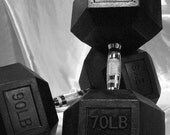 dumbbell weightlifting bodybuilding art photo Original Fine Art Photo -