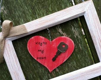 Key To My Heart Frame Decor