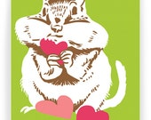 Chipmunk Love: Box Set of 8 Folding Cards