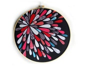 Embroidery Hoop Art - Abstract Fabric Print - Picnic