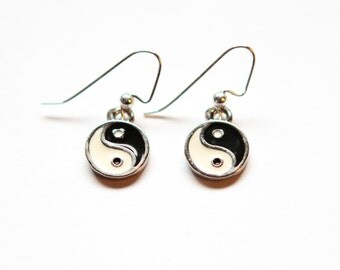 Simple Yin Yang Earrings