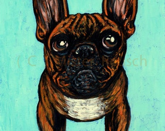 2015 French Bulldog Painting by Mister Reusch