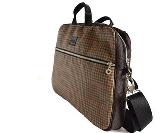 "13"" Laptop bag , Laptop Messenger Bag with strap , Brown laptop bag fully padded , Men or Women Laptop Messenger Bag"