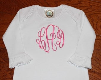 Monogrammed Baby Gown --- Perfect Gift --- Personalized