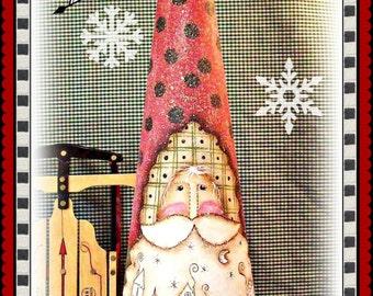 Apple Tree Cottage Original Design E Pattern  -  Village Cone Santa