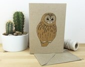 Tawny owl card (100% recycled)