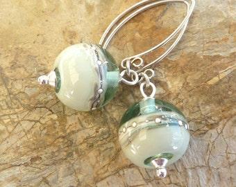 Harmony Earrings .. handmade glass and sterling silver .. UK SRA