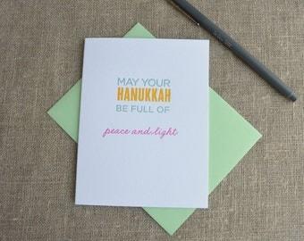 Letterpress Greeting Card - Happy Hanukkah