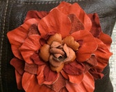Flower Bag in Tangerine and Paprika