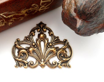 French inspired lattice and scroll antique silverplate for Repousse amaryllis