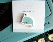 Illustrated Whale Handmade Magnet (Sophisticated)