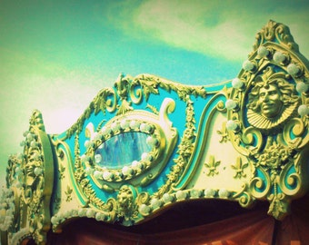 Merry Go 'Round #2 - At the Fair - Nostalgic Vintage Style Nursery Decor - Original Color Photograph by Suzanne MacCrone Rogers