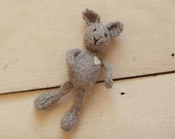 Knit Stuffed Animal bunny rabbit newborn photography prop