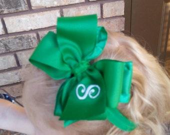 Baby Headband Set - Double Ruffle Bows - St Patty's Day Bow Baby Headband - Pick 4 - Valentine's Bow - Ruffle Bow Headband - Easter Baby Bow