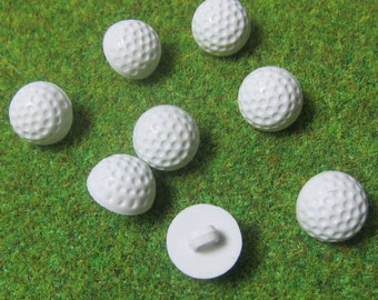 Small Golf Ball Novelty Buttons